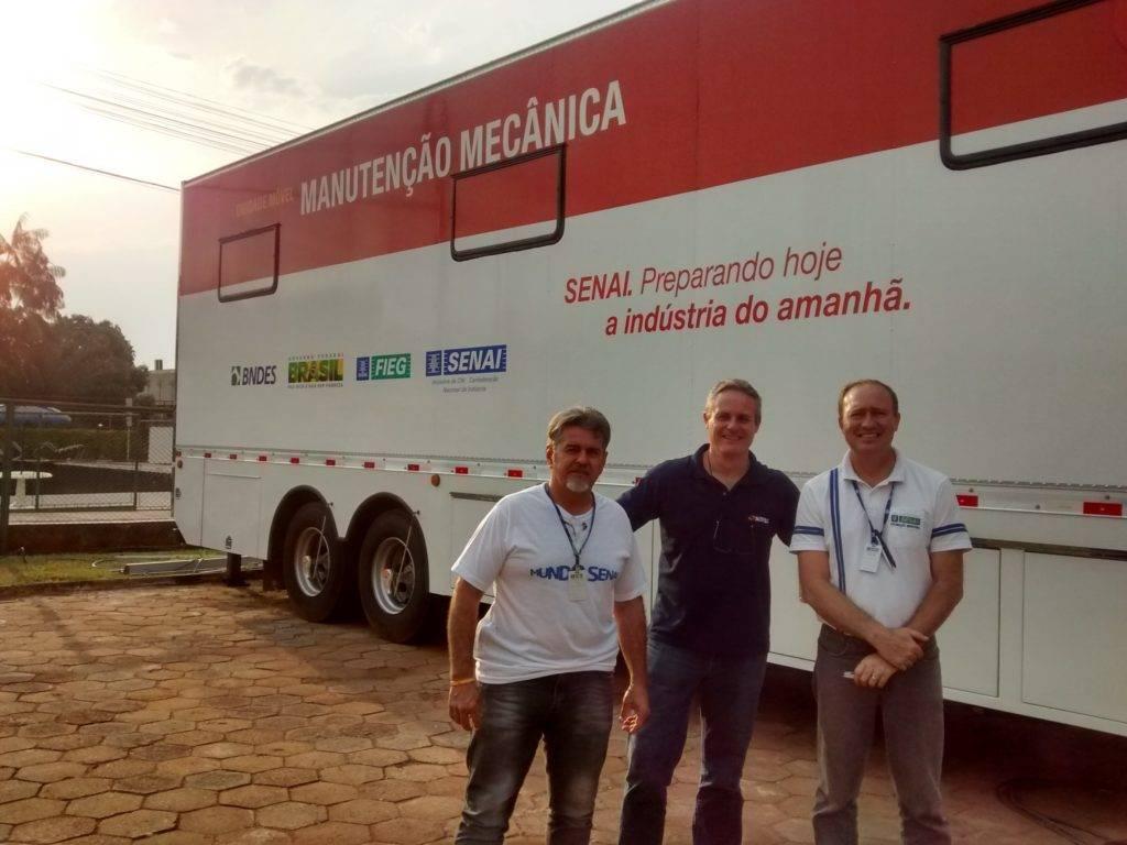 Entrega técnica, instalação e treinamento da unidade móvel de manutenção mecânica na cidade de Goiânia