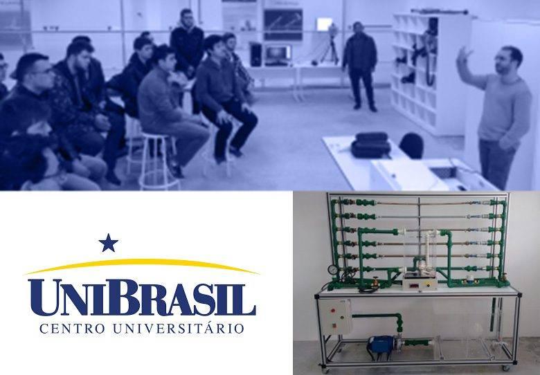 Alunos do UniBrasil inauguram Laboratório com bancada Soma